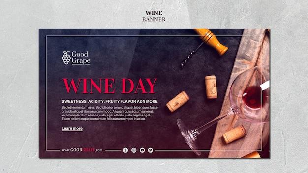 Tema de modelo de banner de vinho