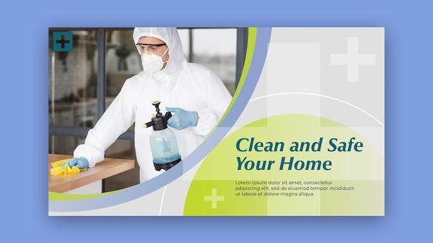 Tema de modelo de banner limpo e seguro