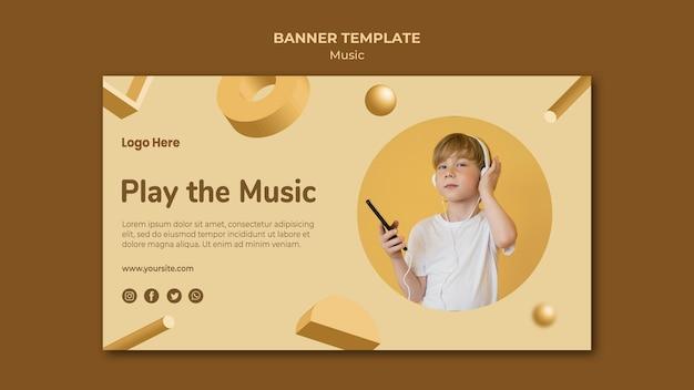 Tema de modelo de banner musical