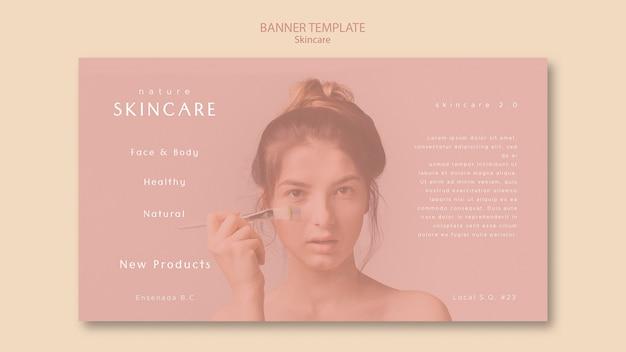 Tema de modelo de banner para cuidados com a pele