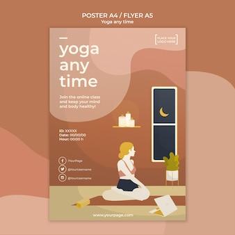 Tema de modelo de cartaz de ioga