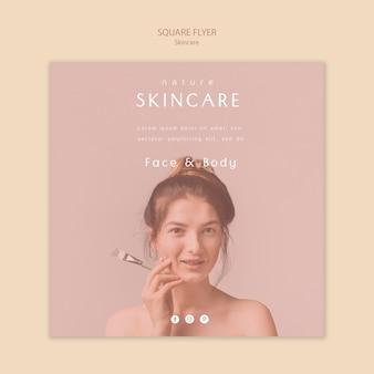 Tema de modelo de folheto - cuidados com a pele