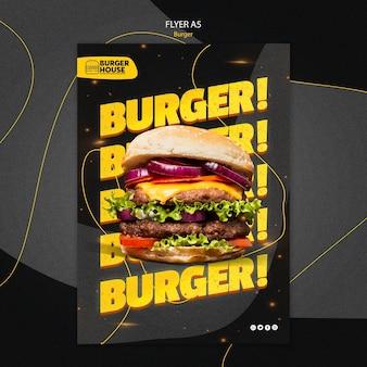 Tema de modelo de folheto de hambúrguer