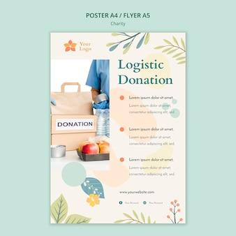 Tema de modelo de panfleto de caridade