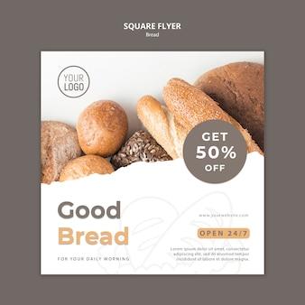 Tema de modelo de panfleto de pão