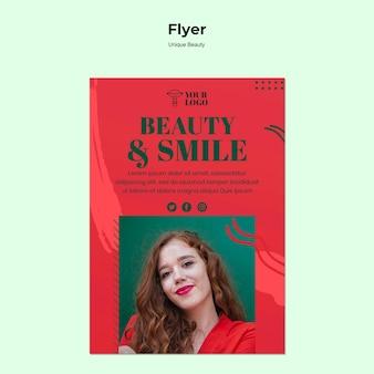 Tema de panfleto de beleza exclusivo