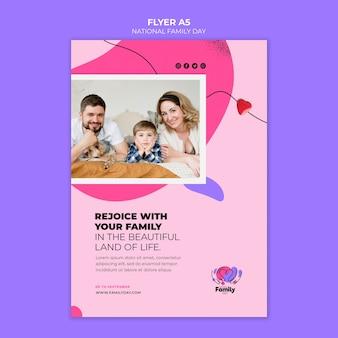 Tema de panfleto de dia nacional da família