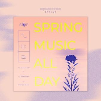 Tema de panfleto de festival de música primavera