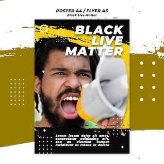 Tema de panfleto de vidas negras importa