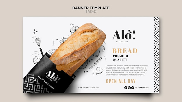 Tema de pão para banner