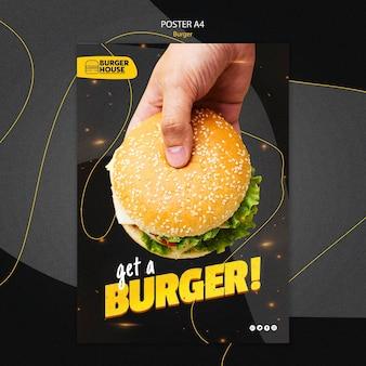 Tema de pôster de hambúrguer