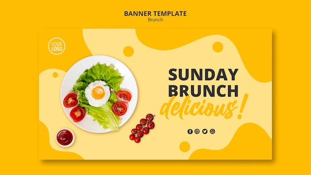 Tema do banner do brunch