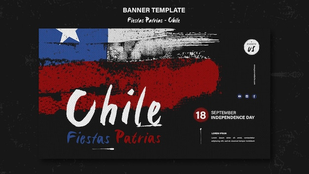 Tema do banner do dia internacional do chile