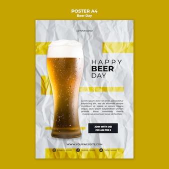 Tema do cartaz do dia da cerveja