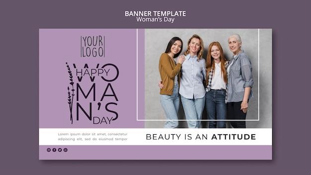 Tema do dia da mulher para o modelo de banner