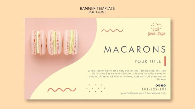 Tema do modelo de banner de macarons