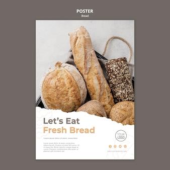 Tema do modelo de cartaz de pão