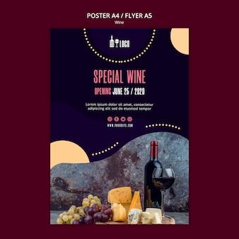 Tema do modelo de cartaz de vinho