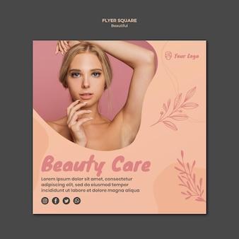Tema do modelo de panfleto de beleza