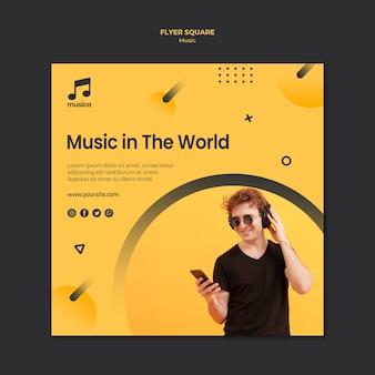 Tema do modelo de panfleto de música