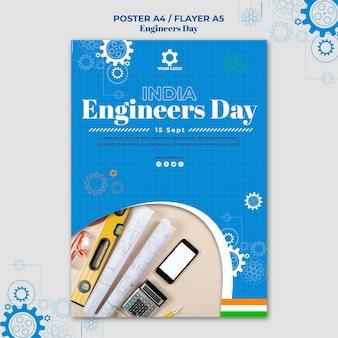 Tema do pôster do dia dos engenheiros