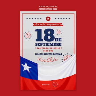 Tema do pôster do dia internacional do chile