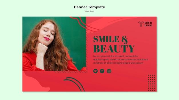 Tema exclusivo de banner de beleza
