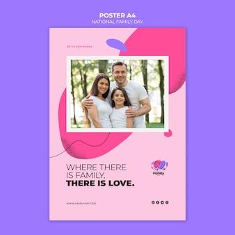 Tema nacional do cartaz do dia da família
