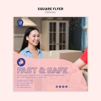 Tema online de compras para o modelo de panfleto