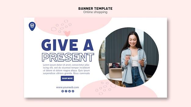Tema online para design de banner de compras