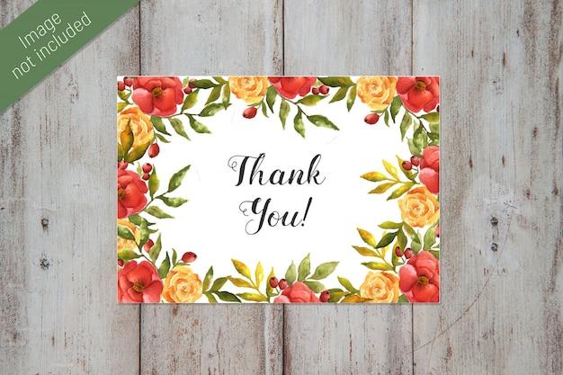 Temlate cartão de agradecimento