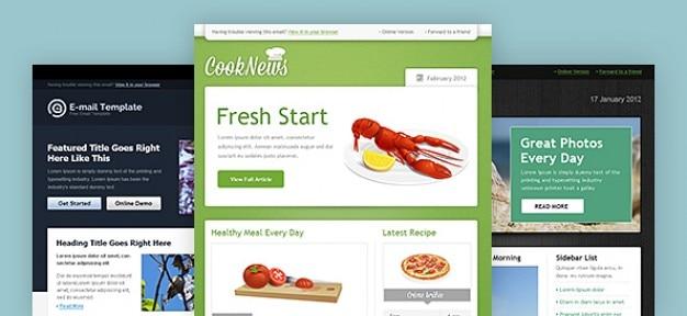 Template web boletim pacote psd
