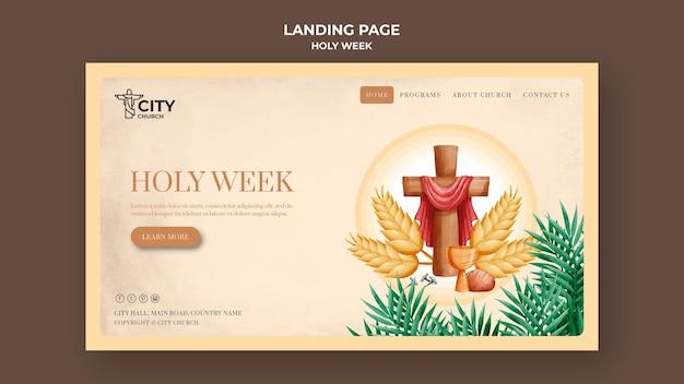 Template web para a semana santa