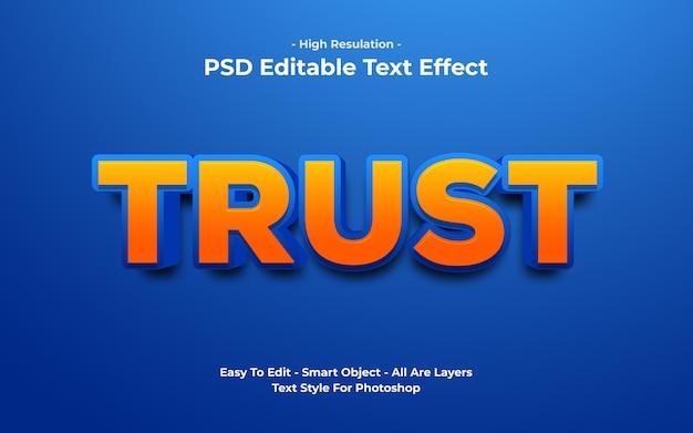 Templete de efeito de texto de confiança