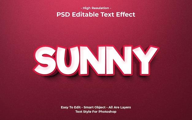 Templete de efeito de texto ensolarado