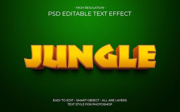 Templete de efeito de texto selva