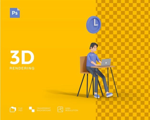 Tempo 3d para trabalhar a renderização do conceito