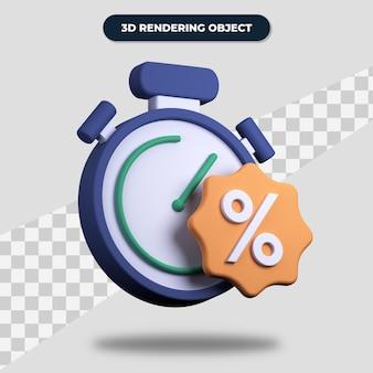 Tempo de desconto de renderização 3d