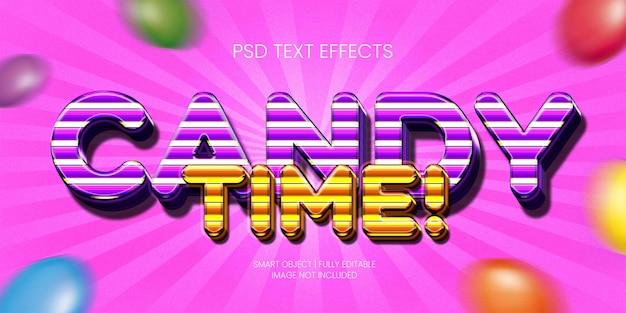 Tempo dos doces! efeito de texto