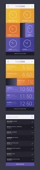 Temporizador app design conceito de zona