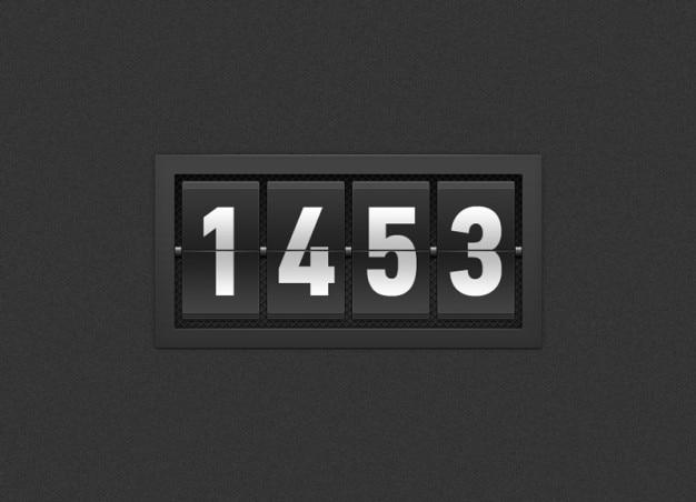 Temporizador preto com números