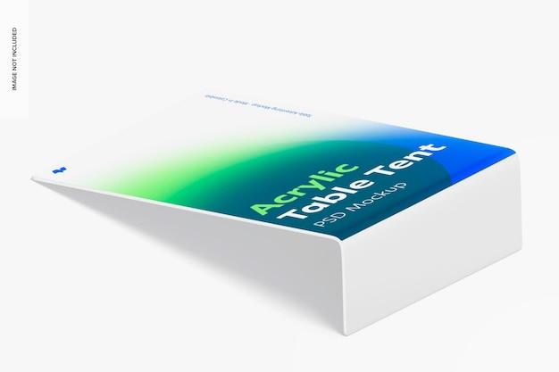 Tenda de mesa acrílica maquete, vista isométrica