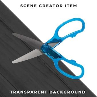 Tesoura objeto transparente psd