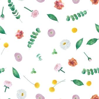 Teste padrão floral sem emenda