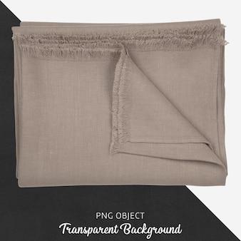 Têxtil de cozinha de linho marrom claro transparente