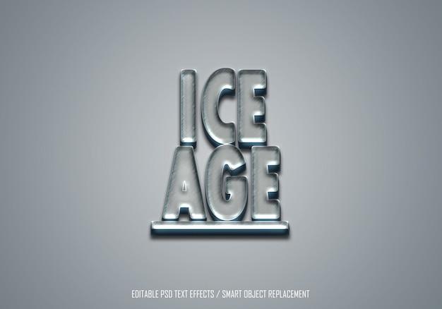 Texto de efeito de gelo 3d