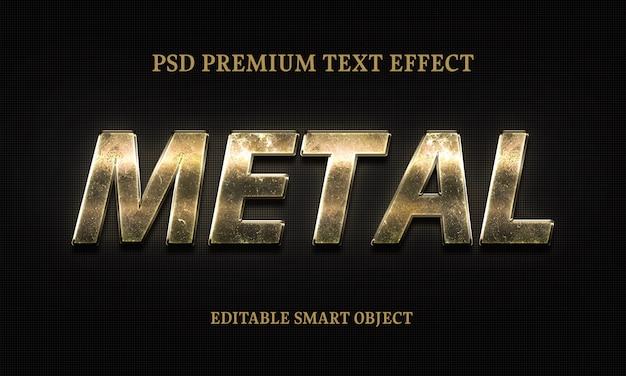 Texto de metal effectportrait de mulher bonita