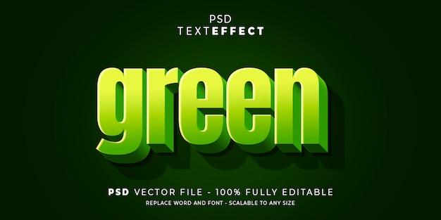 Texto e fonte efeito estilo modelo editável premium