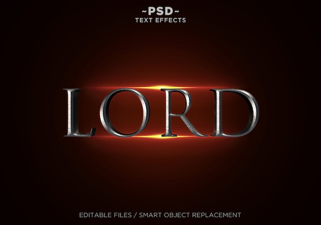 Texto editável 3d lord style effects