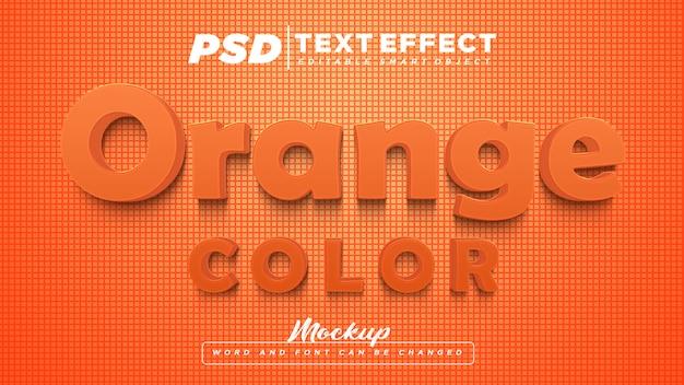Texto editável com efeito de texto de cor laranja